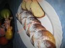 Ostern Zopf mit Puderzucker (mit Fotos)