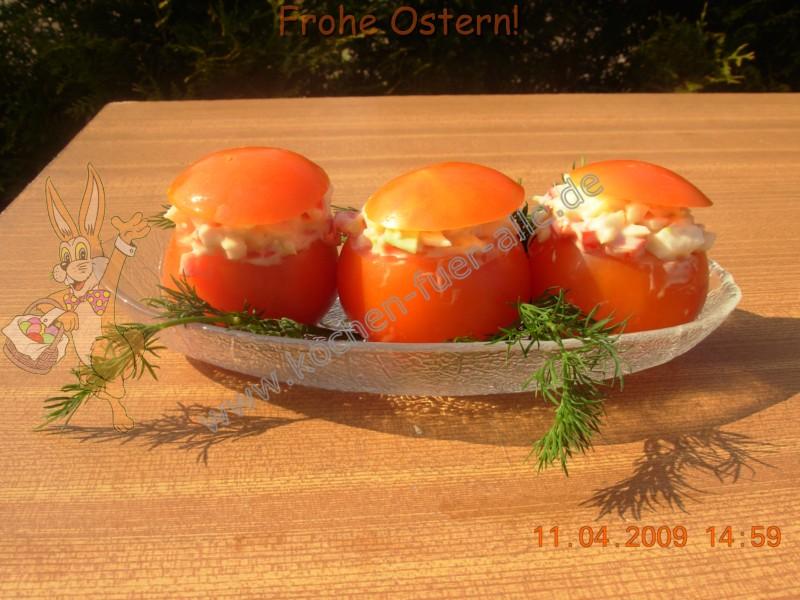 Tomaten gefüllte mit Weißkohl