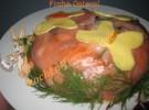 Ostern Salat: Garnelensalat in Lachs Haube «Schmetterlinge»