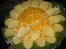 Salat «Sonnenblume» (mit Fotos)