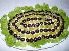 Salat «Hähnchen unter Weintrauben» (mit Fotos)