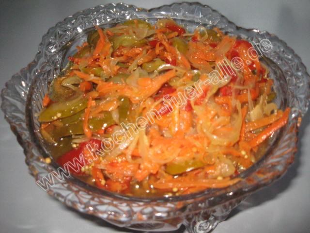 Möhren Salat in Marinade