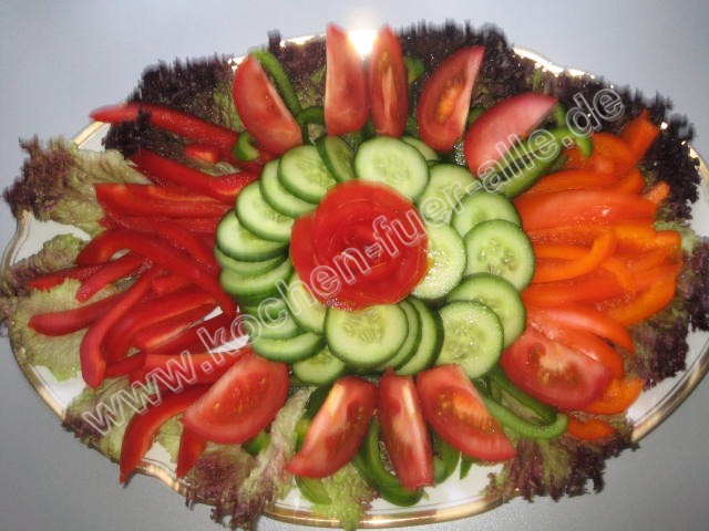 Gemüse Rohkost Platte Mit Fotos Kochen Für Alle Einfach Und