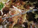 Bunt gemischt und frischer Blattsalat