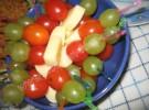 Käse Weintrauben-Tomaten Spieße